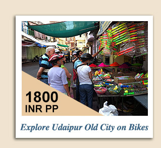 Cycling Tours : Explore Udaipur Old City on Bikes